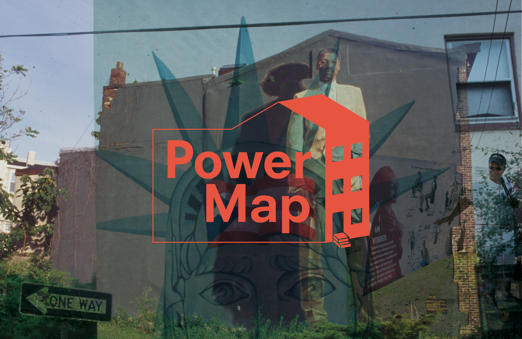 "Power Map, a virtual exhibition archiving Mural Arts Philadelphia's ""Power Map: Historical Mural Activations"" Project"